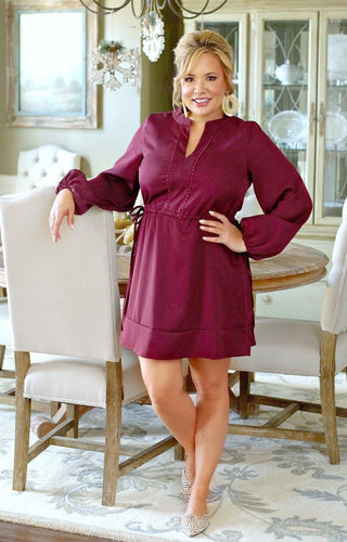 Passionate Moments Dress - Burgundy