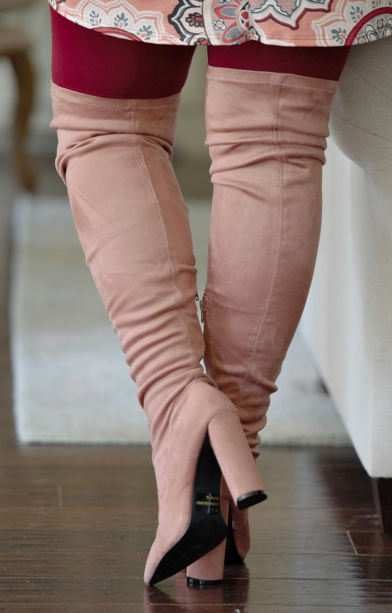 Load image into Gallery viewer, Daily Duties Over The Knee Boots - Mauve