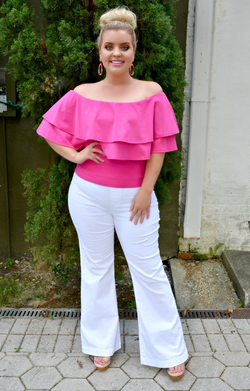 Never Holding Back Top - Fuchsia