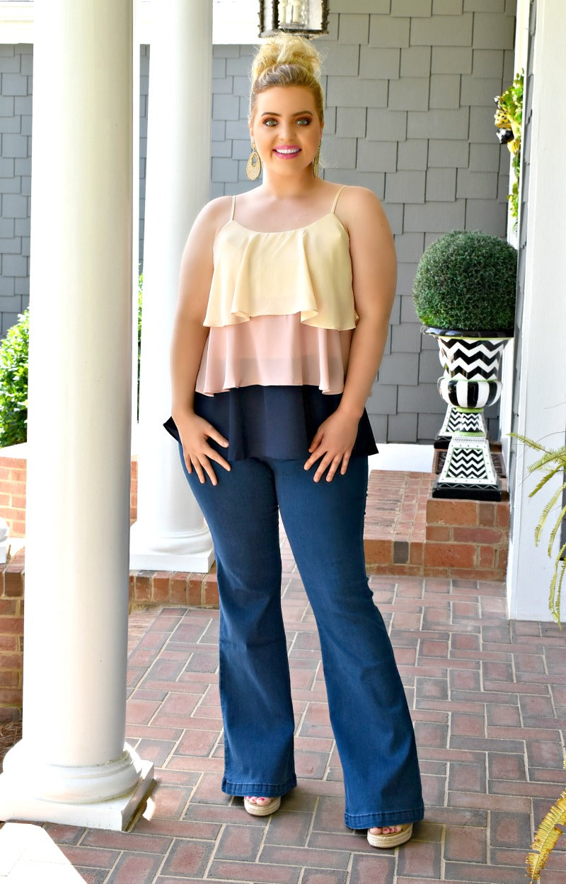 Load image into Gallery viewer, Enough For Me Colorblock Top - Blush/Navy