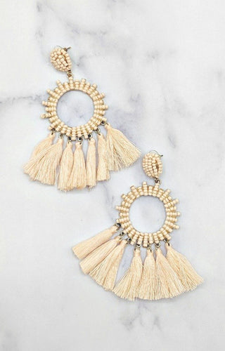 Take Me Places Earrings - Peach