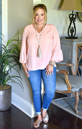 The New Me Top - Peach