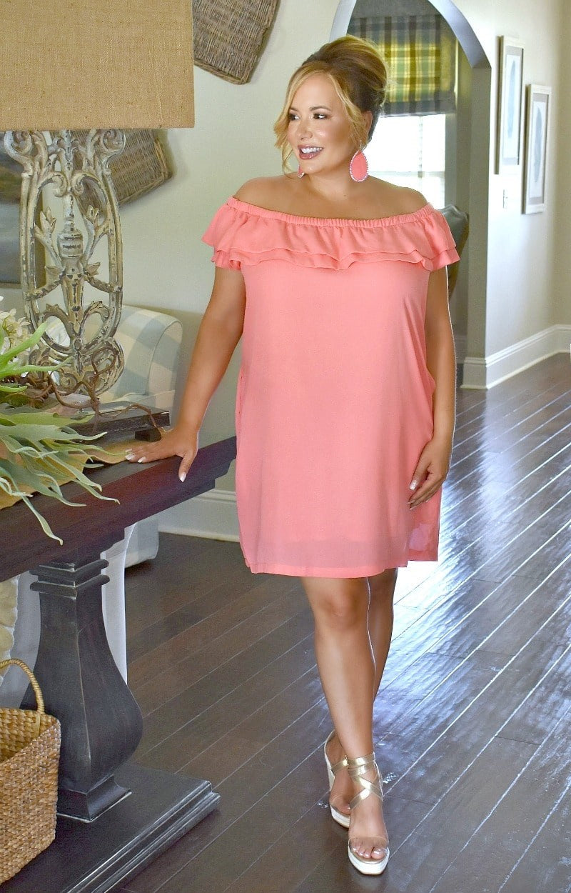 Love Lives Here Dress - Coral