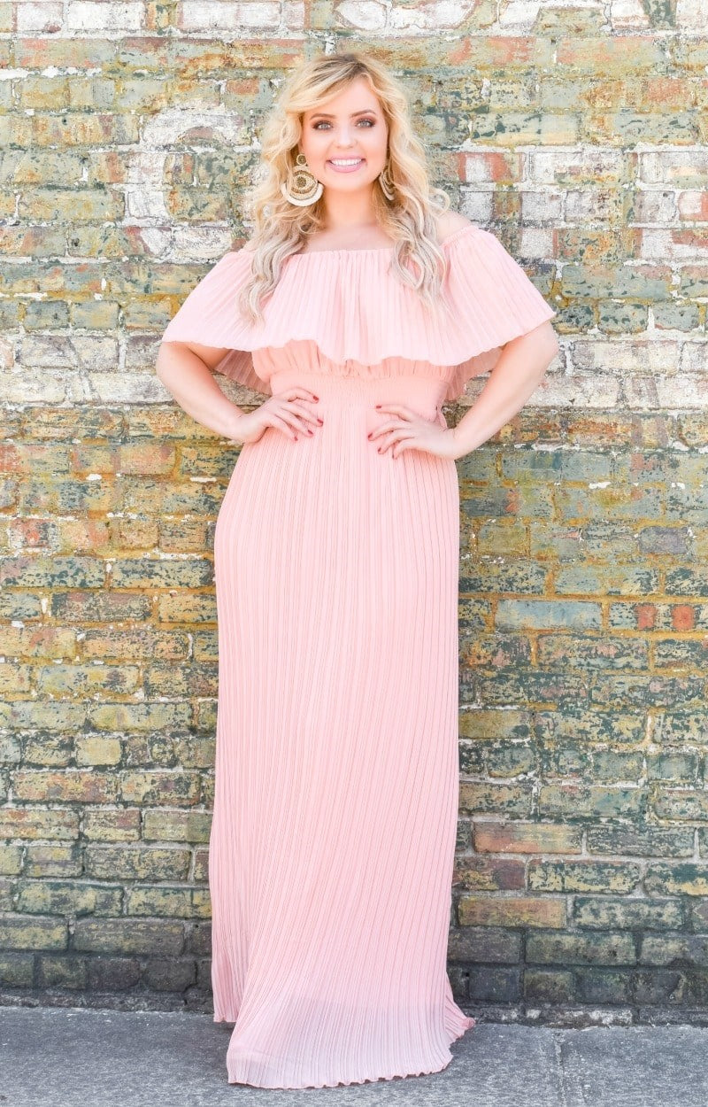 Something To Cherish Maxi Dress - Peach