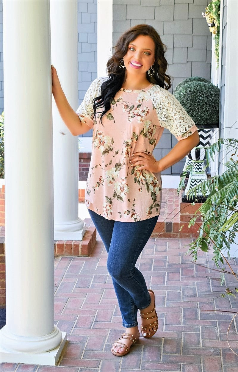 Whimsical Ways Floral Top - Pink
