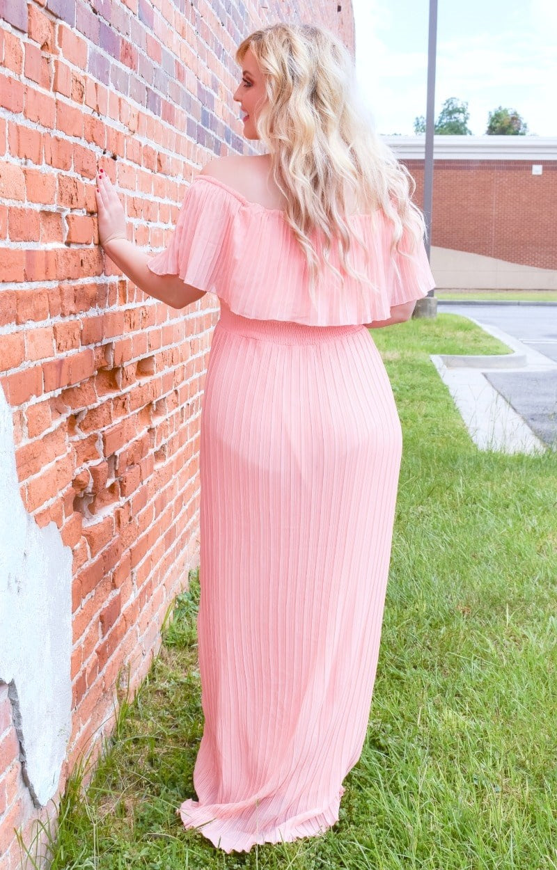 Load image into Gallery viewer, Something To Cherish Maxi Dress - Peach