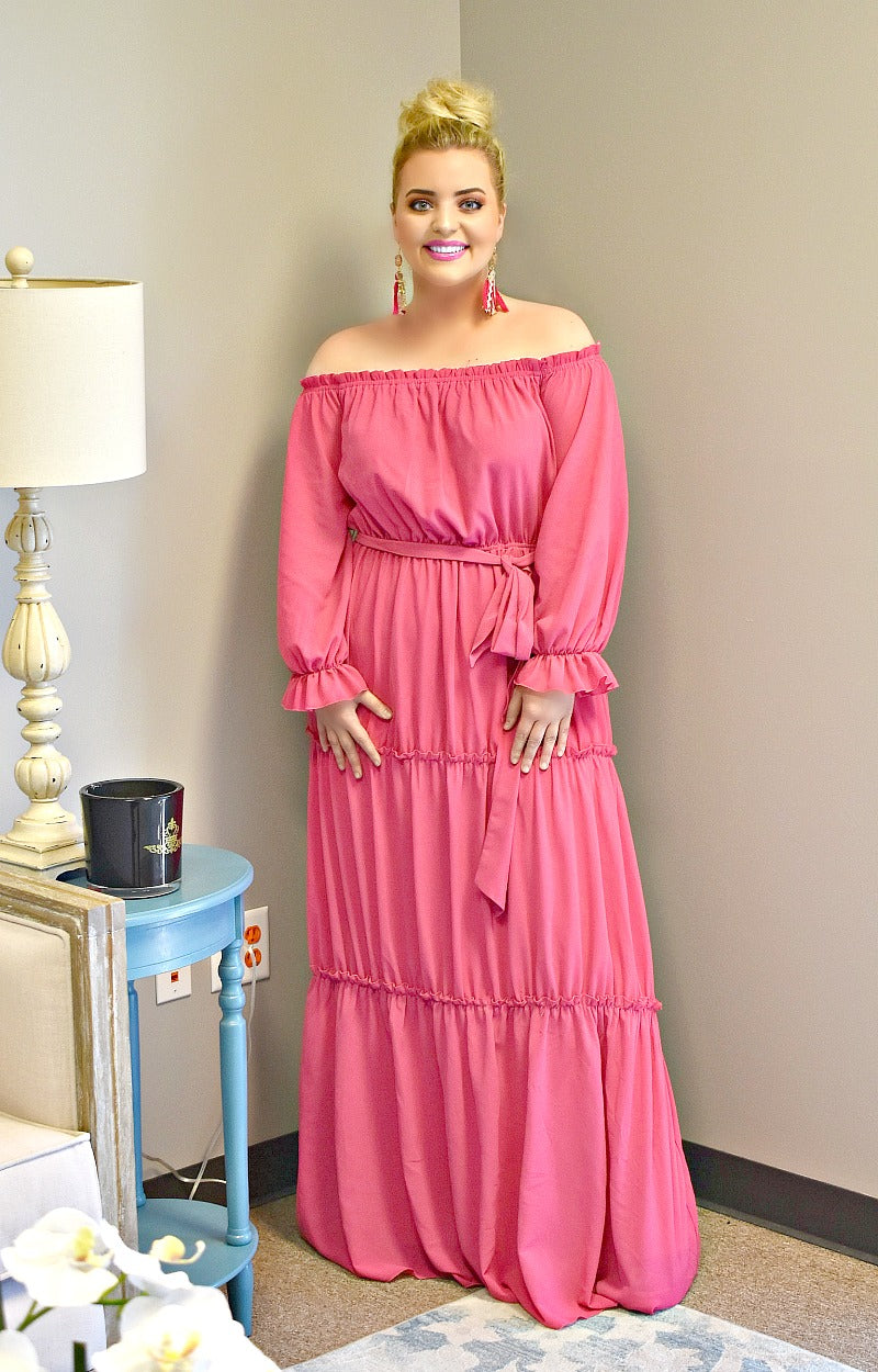 Load image into Gallery viewer, Had Your Chance Maxi Dress - Magenta