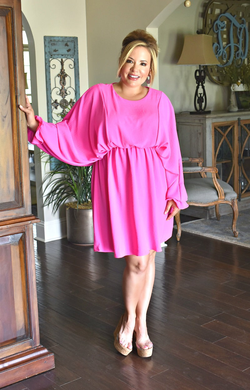 Load image into Gallery viewer, Save The Drama Dress - Hot Pink