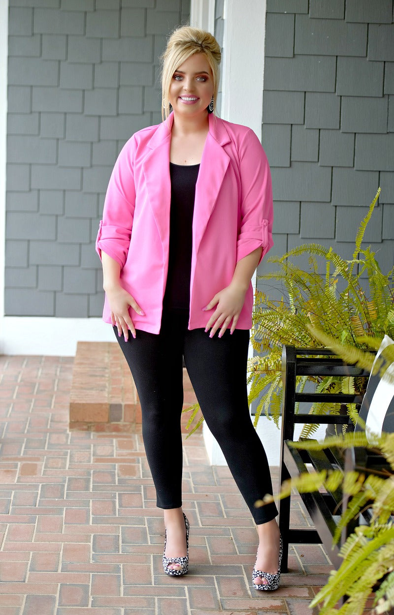 Who's The Boss Blazer - Hot Pink