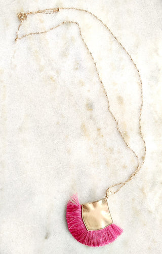 Double The Trouble Necklace - Pink