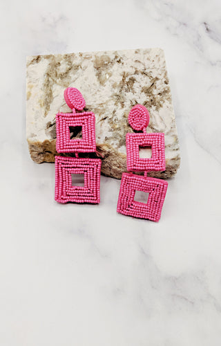 Take It Or Leave It Earrings - Fuchsia
