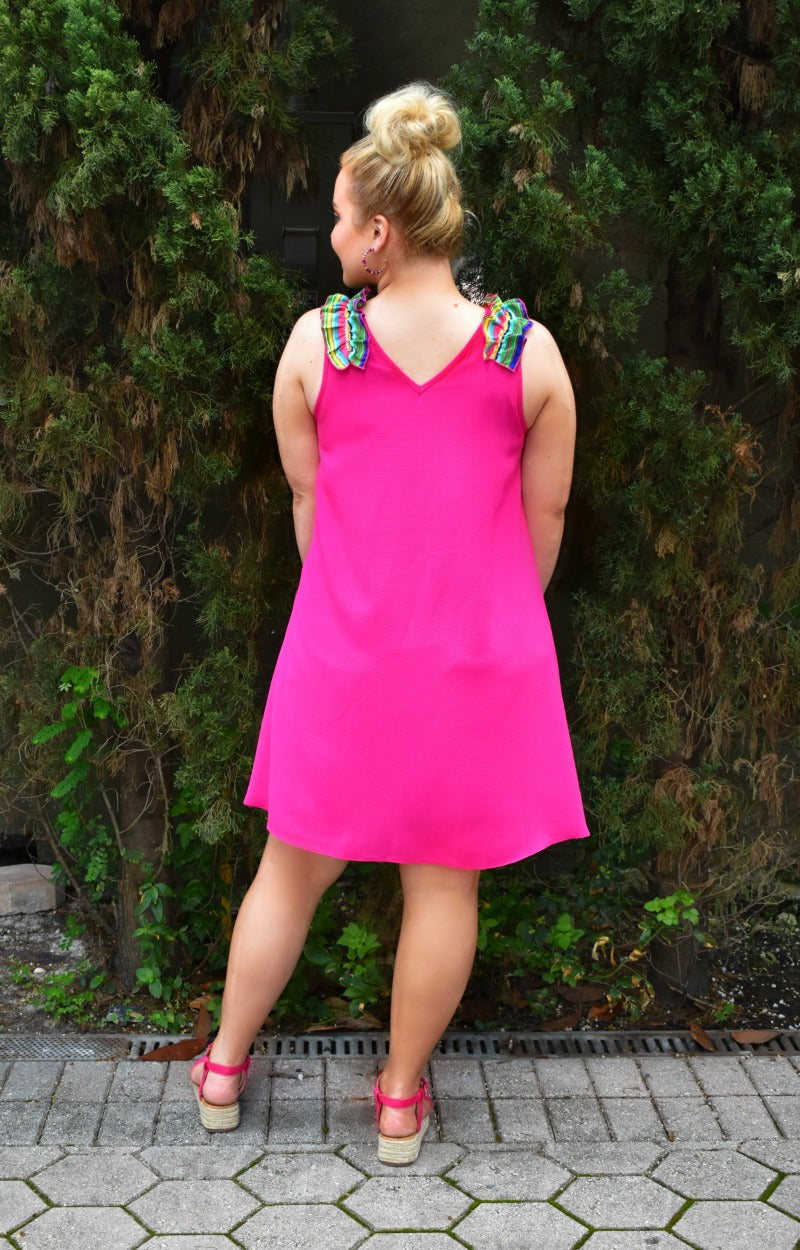 Load image into Gallery viewer, Taking Over Dress - Hot Pink/Multi