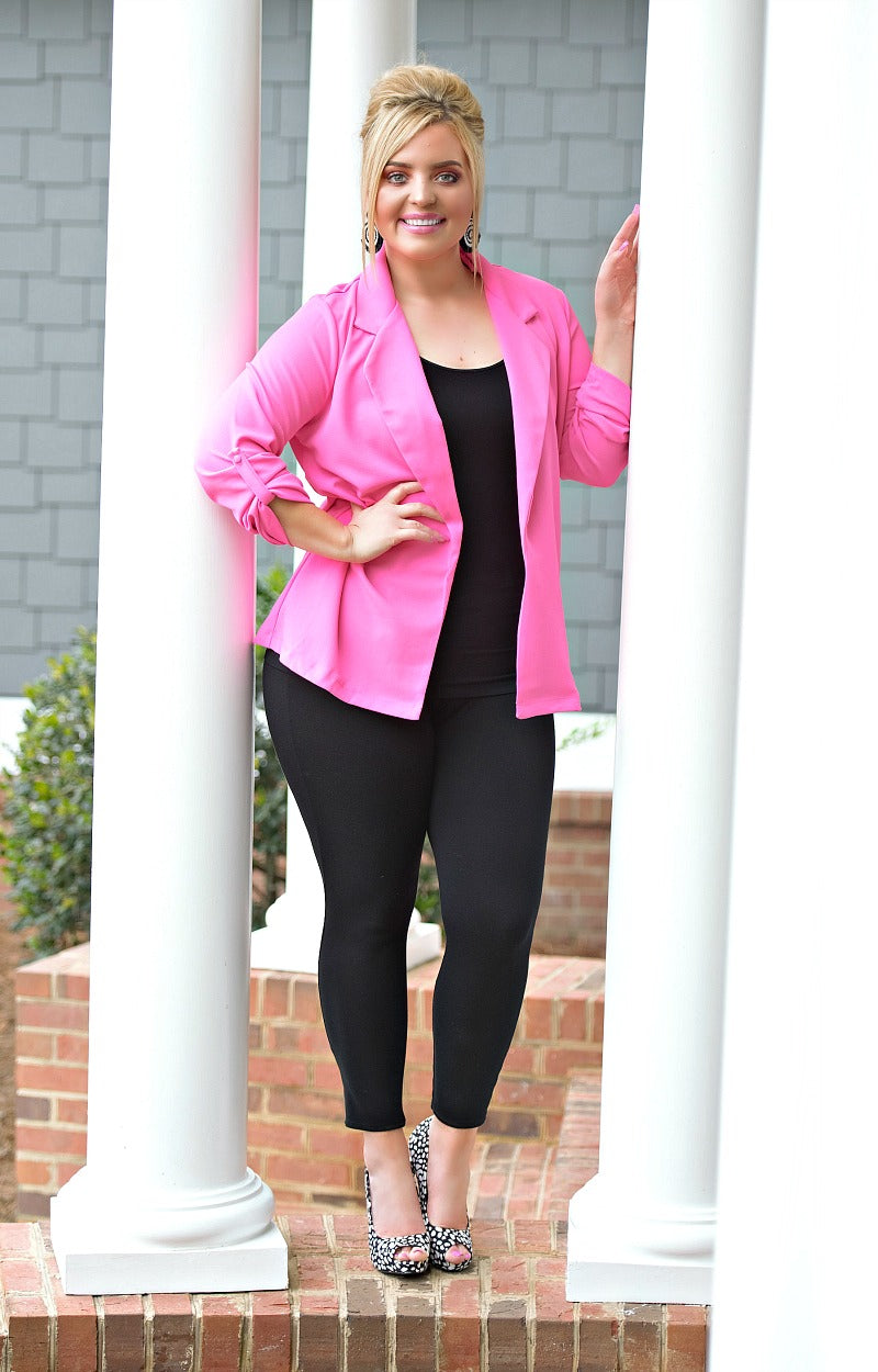 Load image into Gallery viewer, Who's The Boss Blazer - Hot Pink