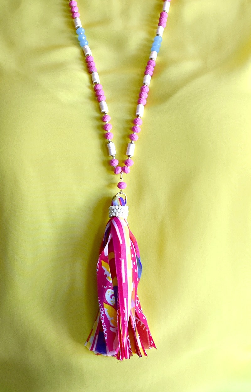 Oh So Easy Necklace - Pink/Multi