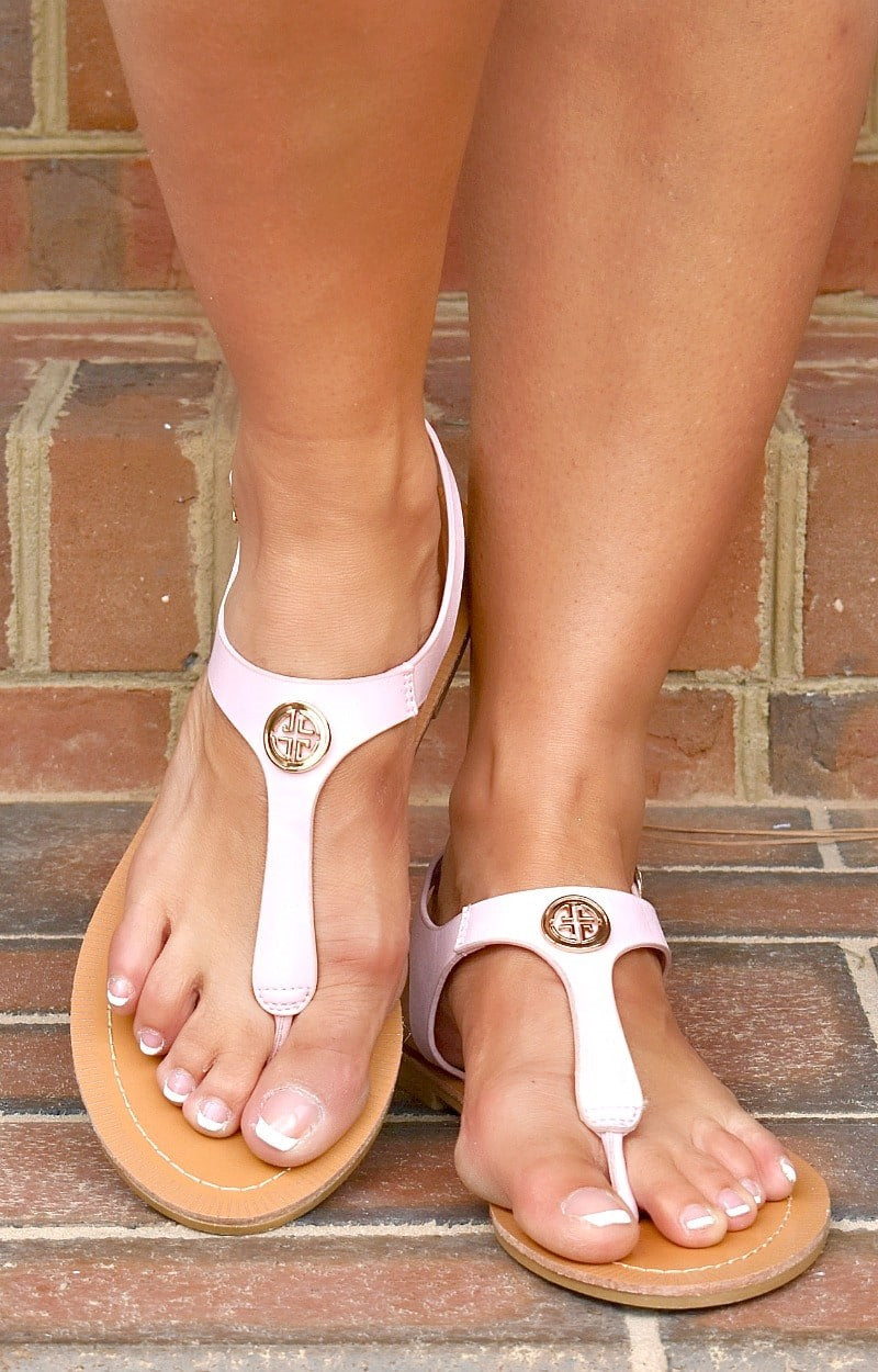 Load image into Gallery viewer, Fluttering Along Sandals - Pink