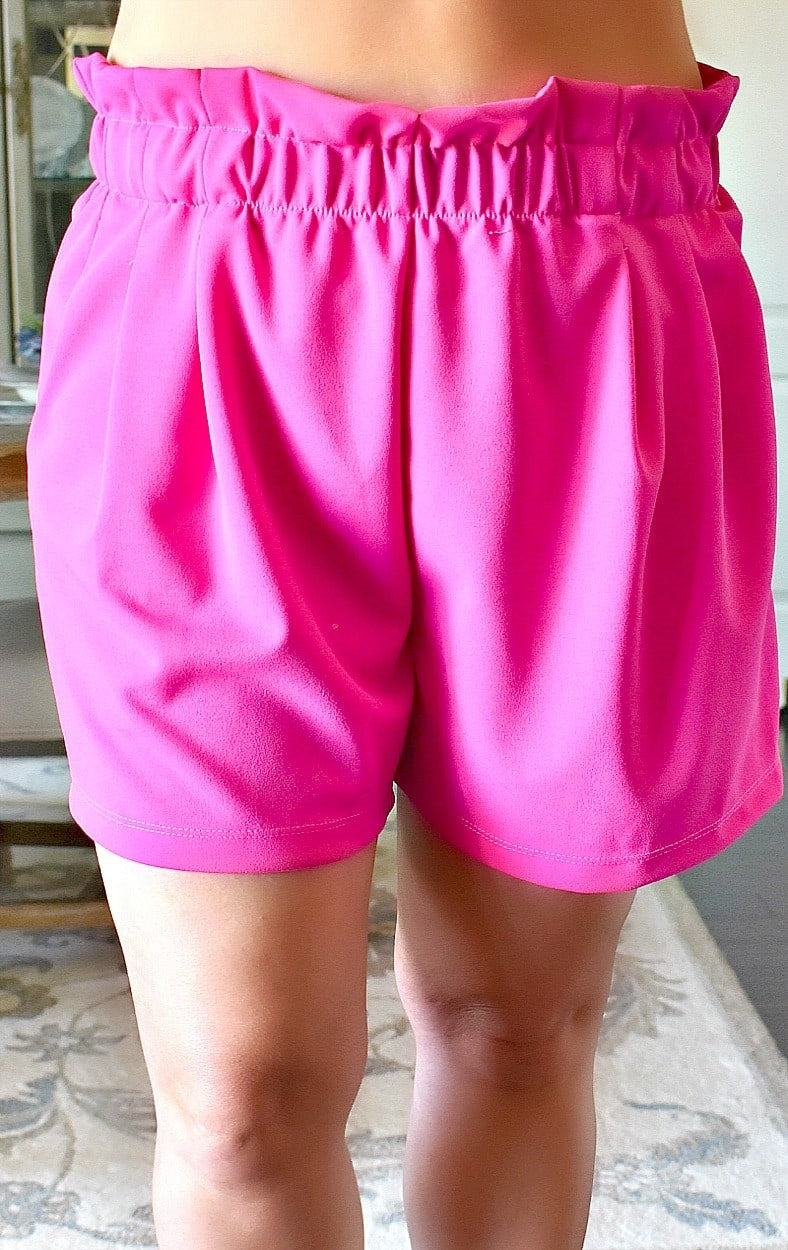 Keep In Touch Shorts - Hot Pink