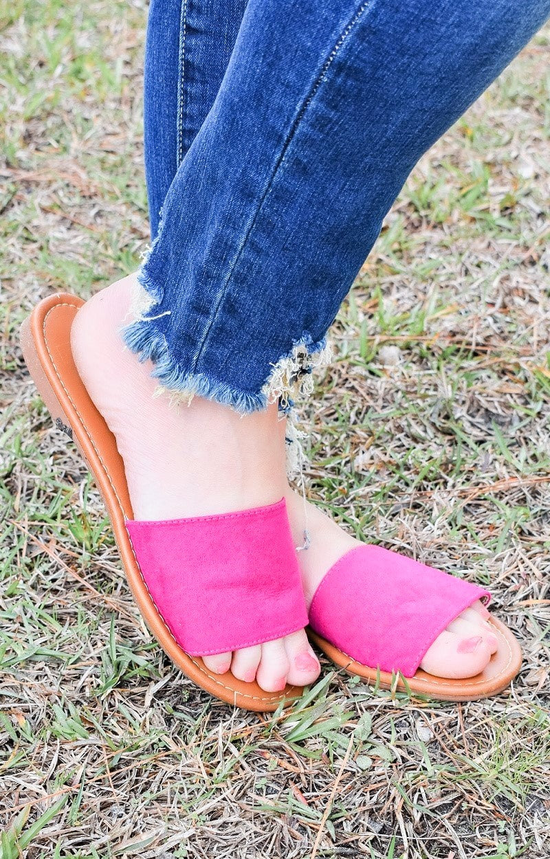 Load image into Gallery viewer, Keep Life Simple Flats - Hot Pink