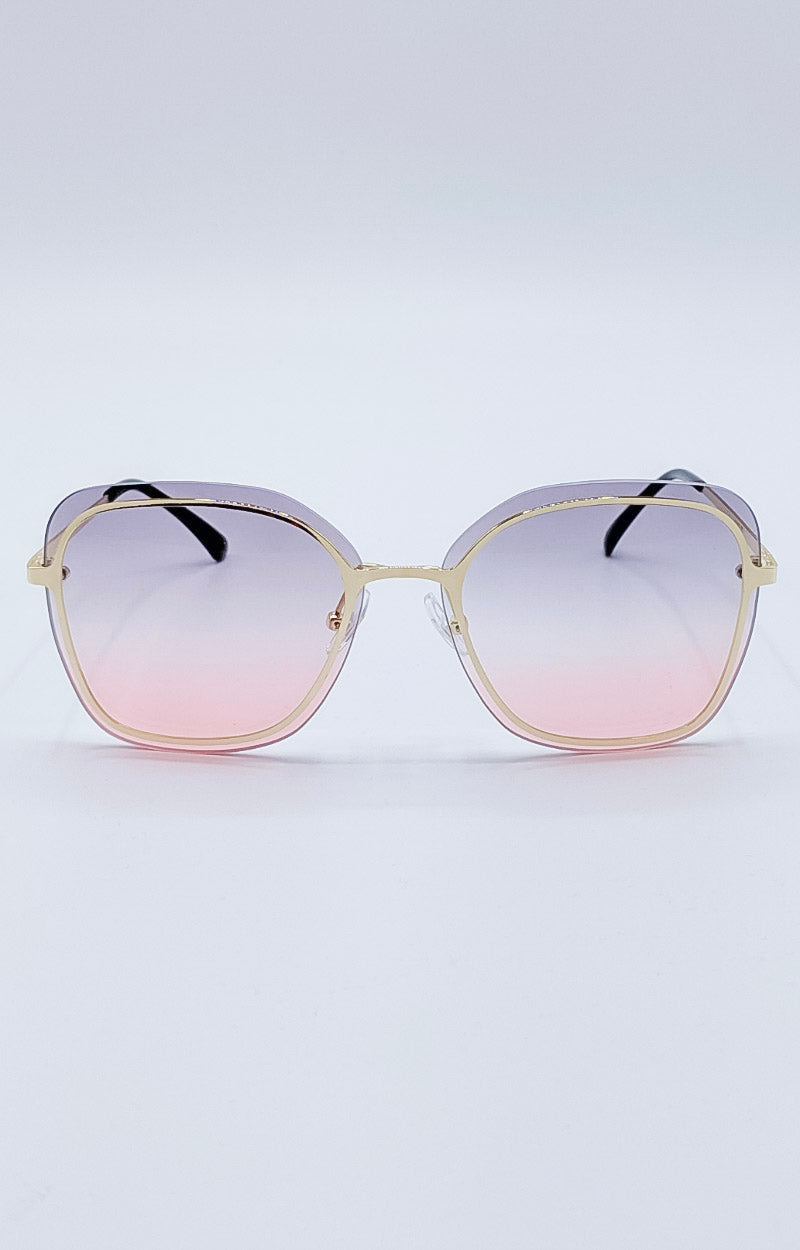 Load image into Gallery viewer, Ray Of Light Sunglasses - Gold/Pink