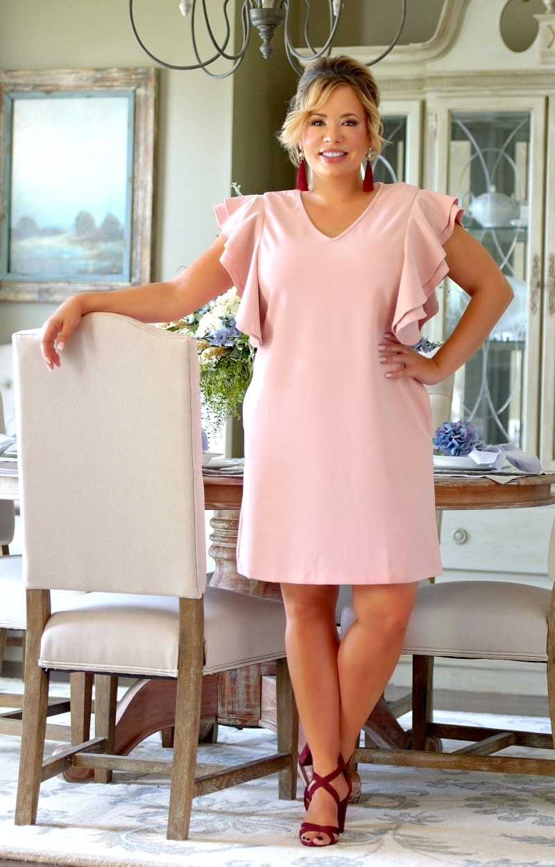 Load image into Gallery viewer, It's That Simple Dress - Blush