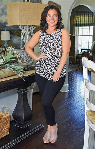 My Wild Side Leopard Print Top - Blush