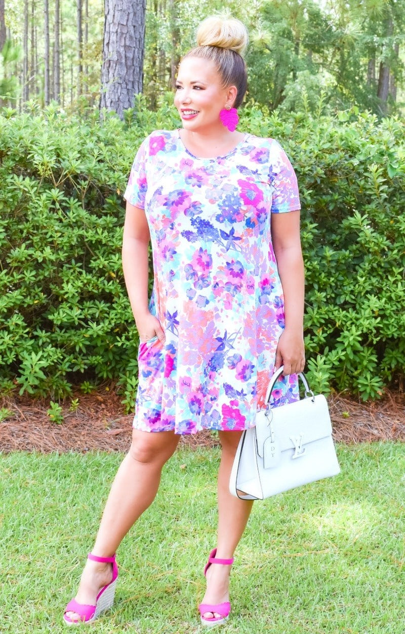 Crazy About You Floral Dress - Ivory