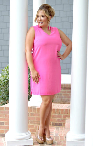 Love To Laugh Dress - Hot Pink