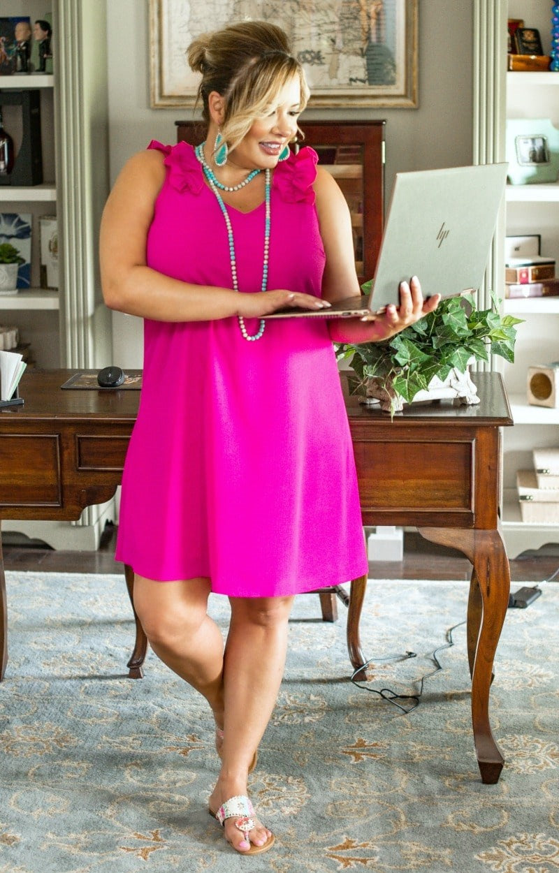 Load image into Gallery viewer, Taking Over Dress - Hot Pink