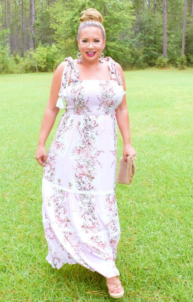 Load image into Gallery viewer, On The Horizon Floral Maxi Dress - Pink