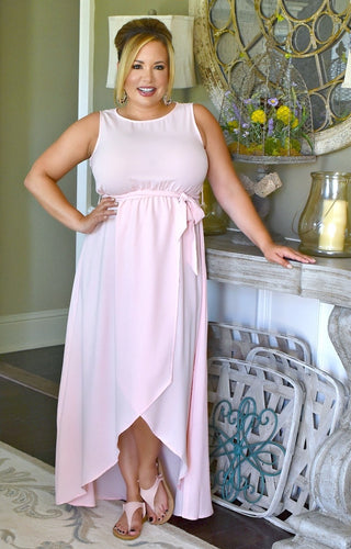Focus Here Maxi Dress - Blush