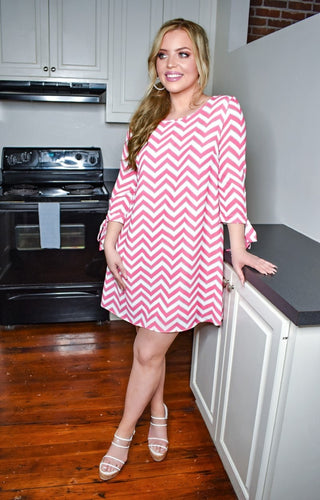 Ready For Tonight Print Dress - Pink