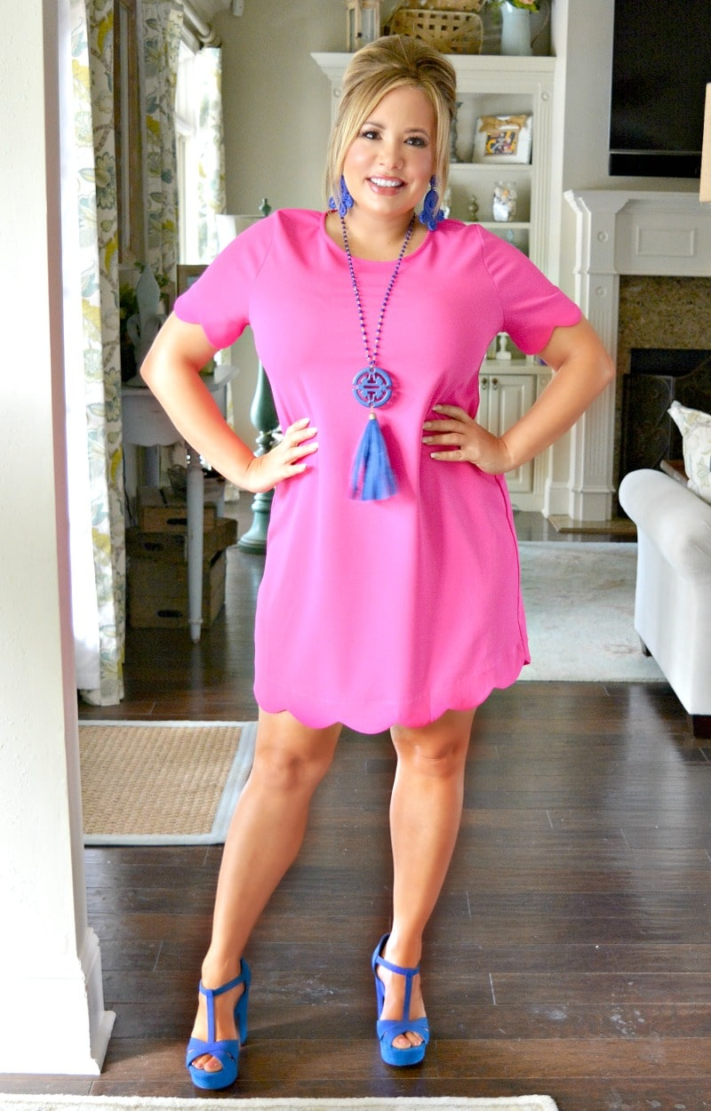 Load image into Gallery viewer, Over The Limit Dress - Hot Pink