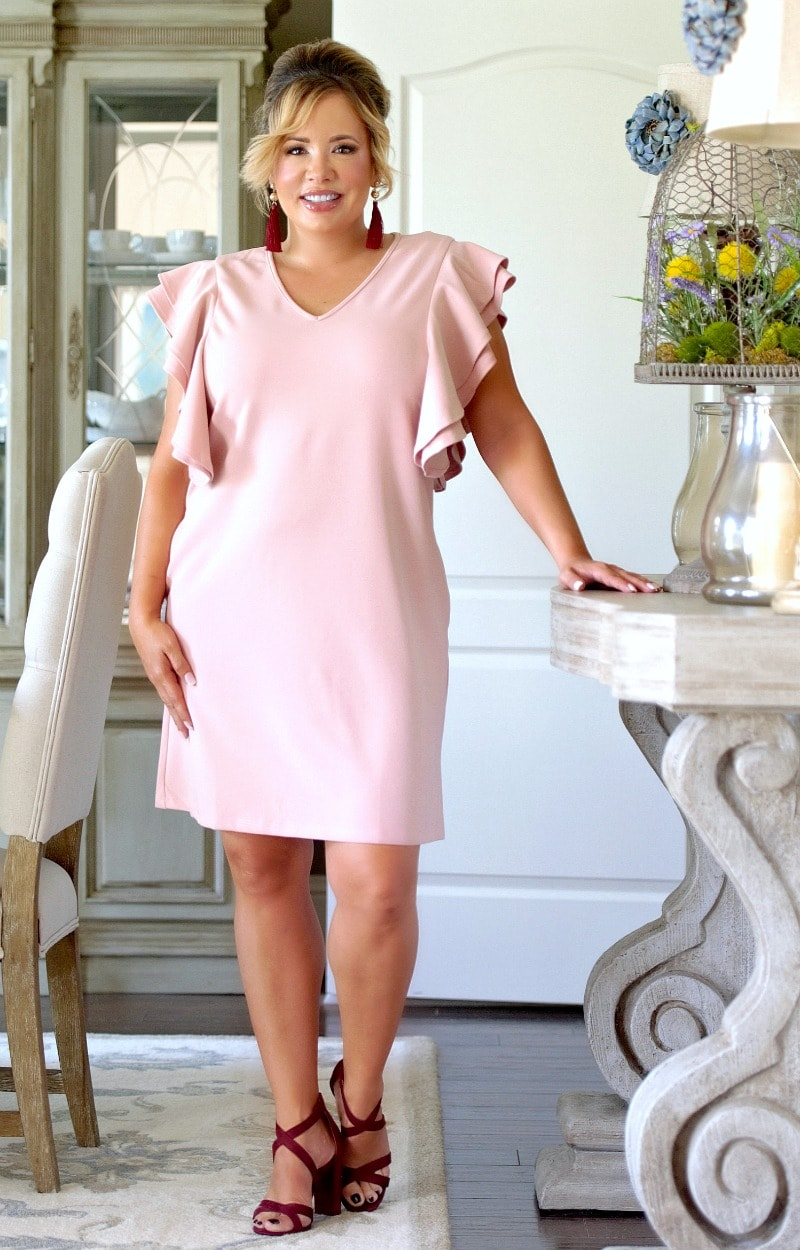 It's That Simple Dress - Blush