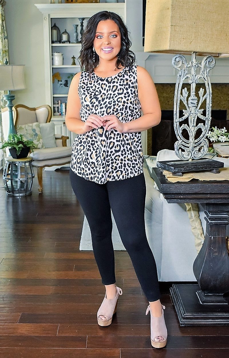 Load image into Gallery viewer, My Wild Side Leopard Print Top - Blush
