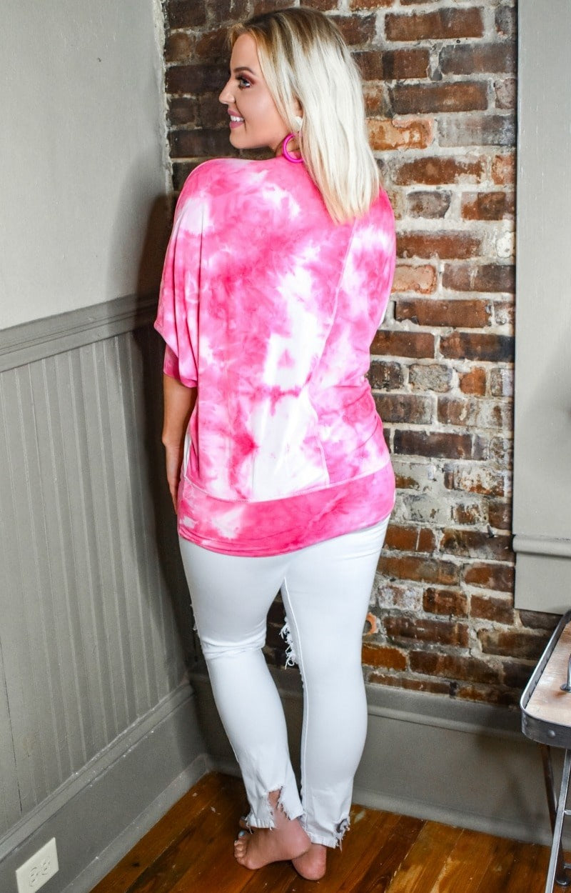 Never The Same Tie Dye Top - Pink