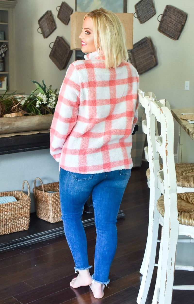 Load image into Gallery viewer, Promise Me This Plaid Pullover - Blush
