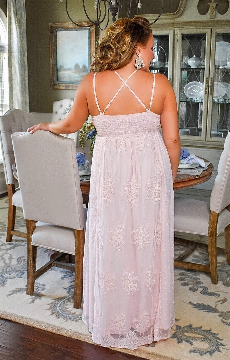 Load image into Gallery viewer, True Story Lace Maxi Dress - Blush