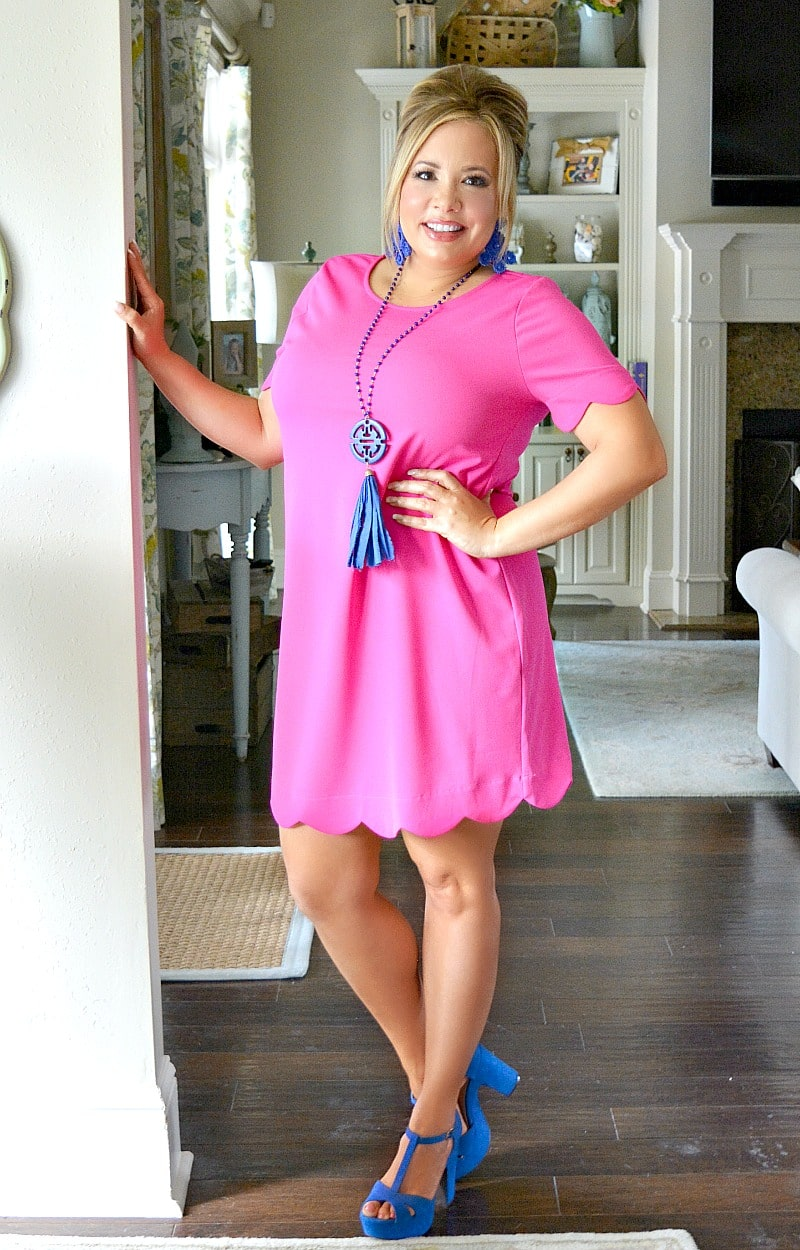 Over The Limit Dress - Hot Pink