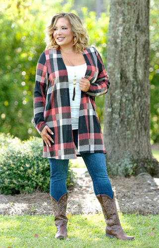 Always Prepared Plaid Cardigan - Multi