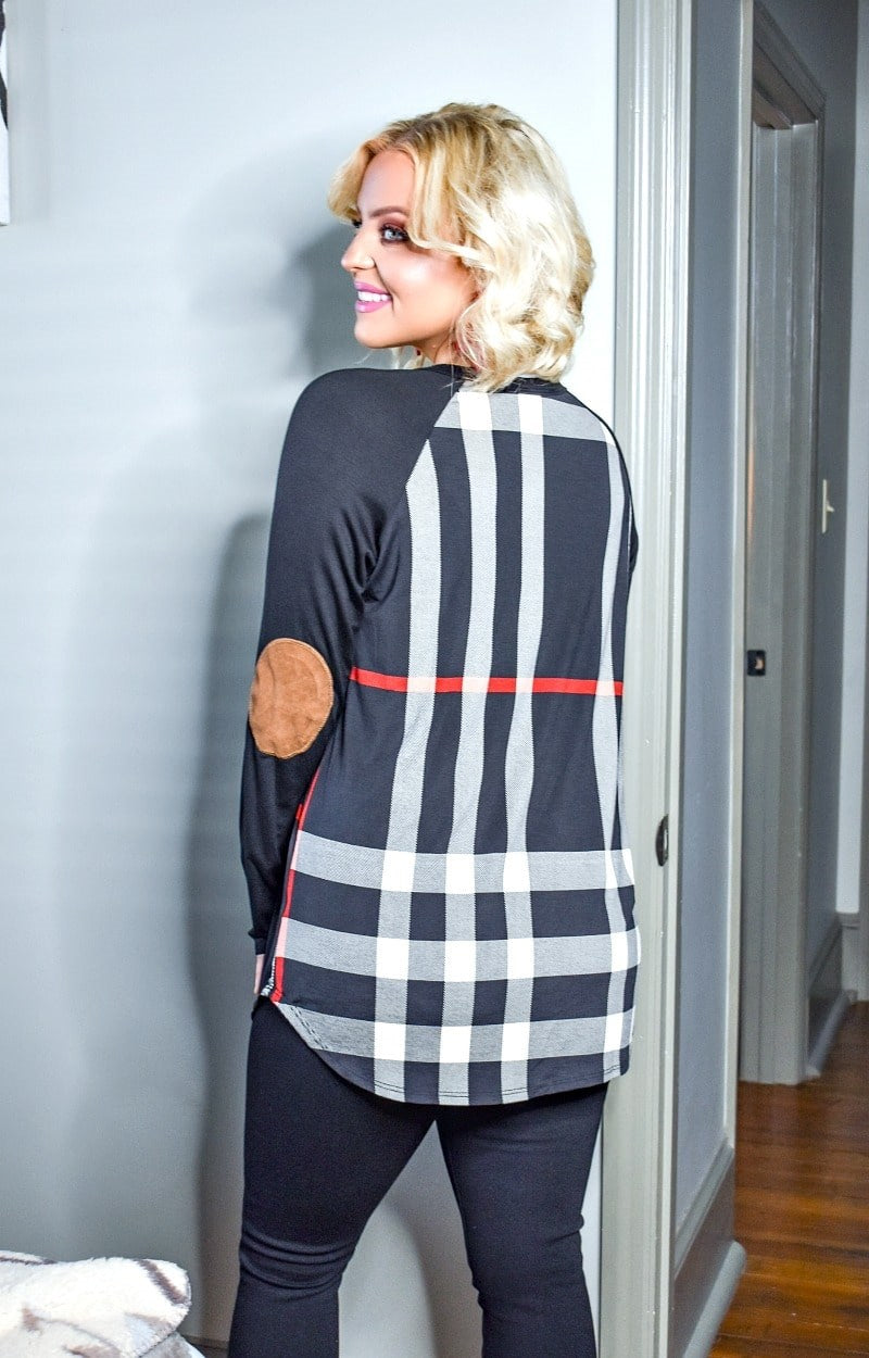 Load image into Gallery viewer, Matters To Me Plaid Top - Black