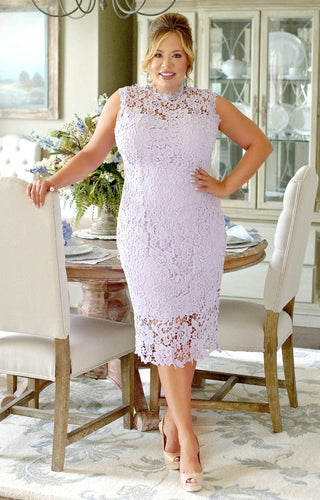 All About The Details Crochet Dress - Lavender
