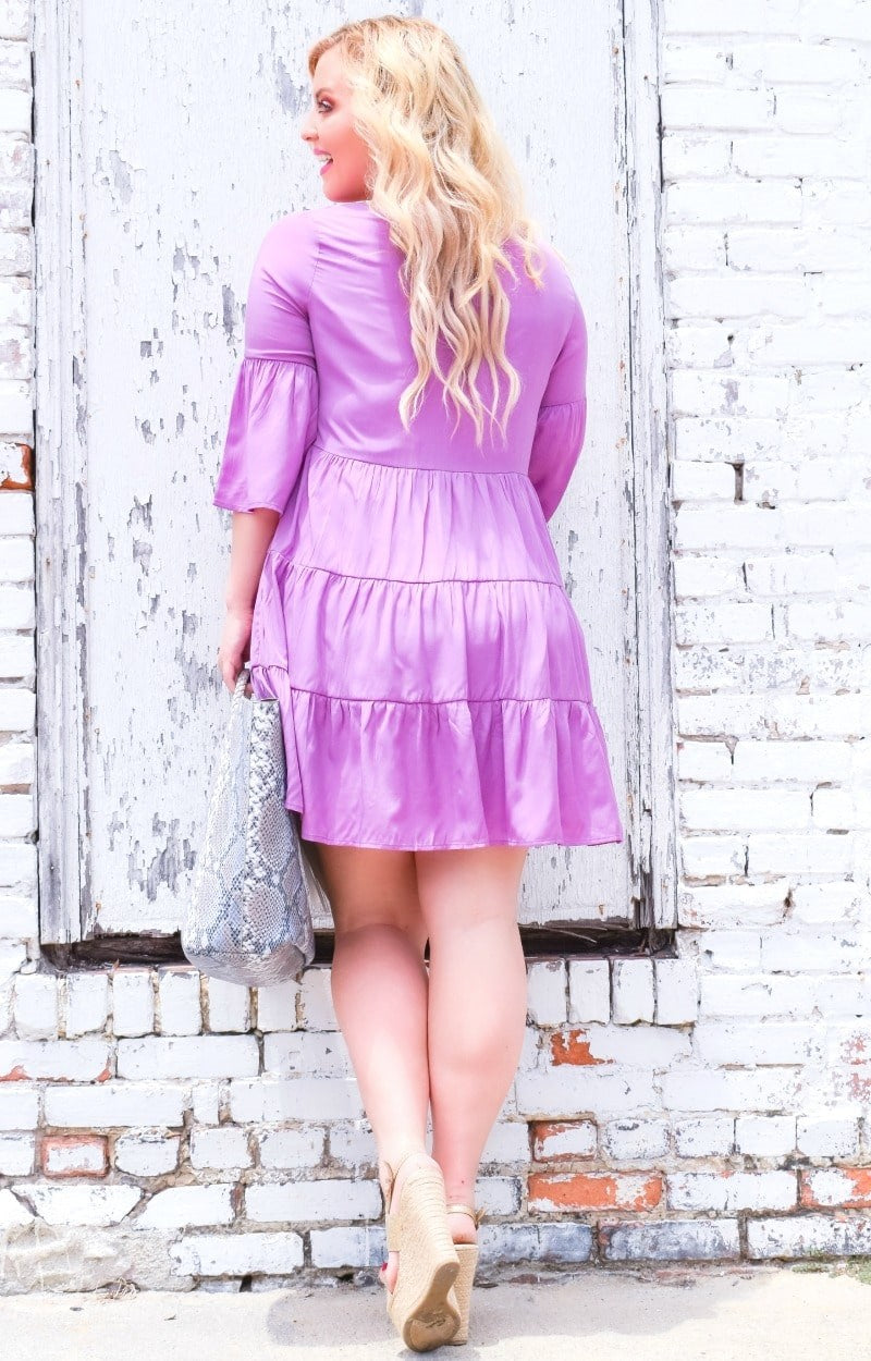 Keep A Secret Dress - Lavender
