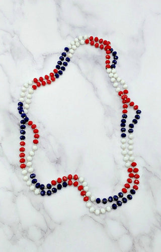The Essential Double Wrap Necklace - Red/Blue
