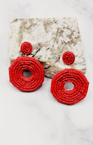 Good As Always Earrings - Red
