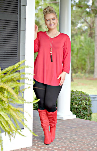 Hand In Mine Top - Red