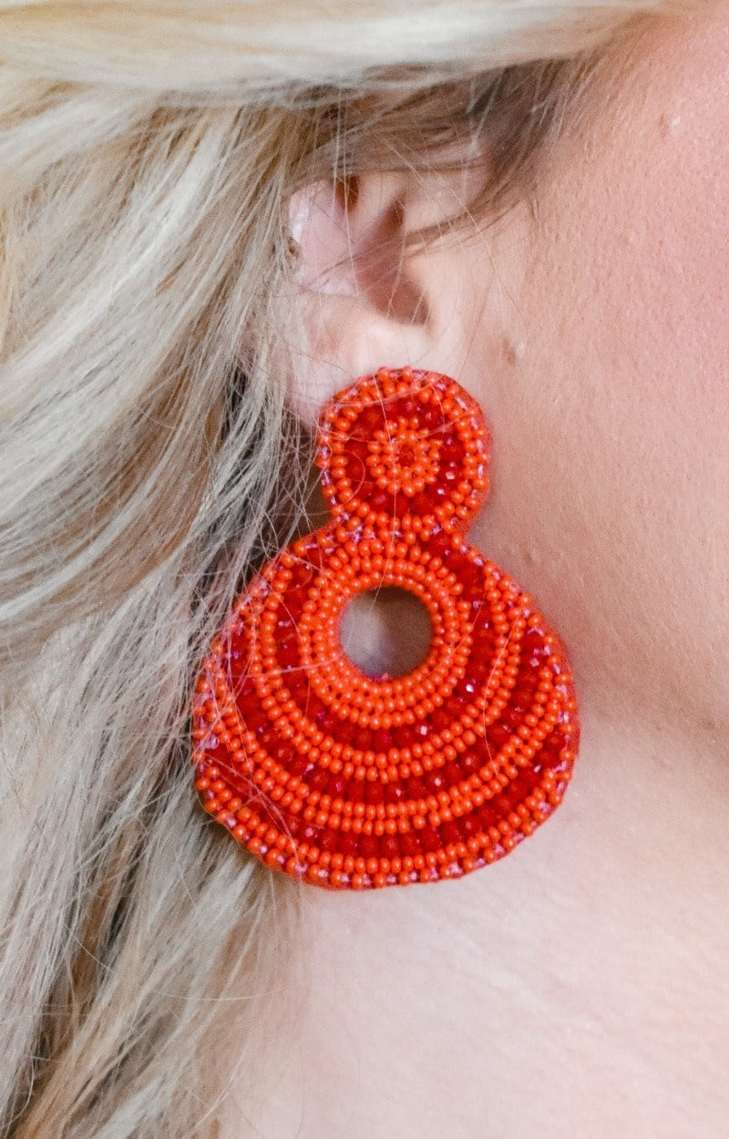 Load image into Gallery viewer, Tried It All Earrings - Red