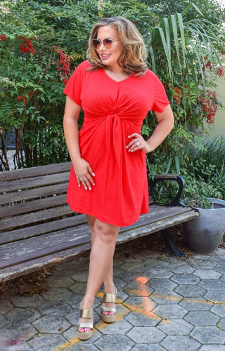 Visions Of You Dress - Red