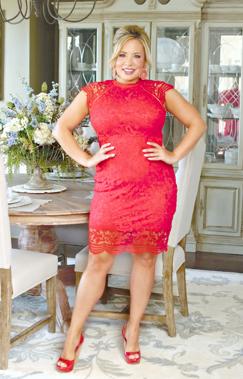 Major Commitment Dress - Red