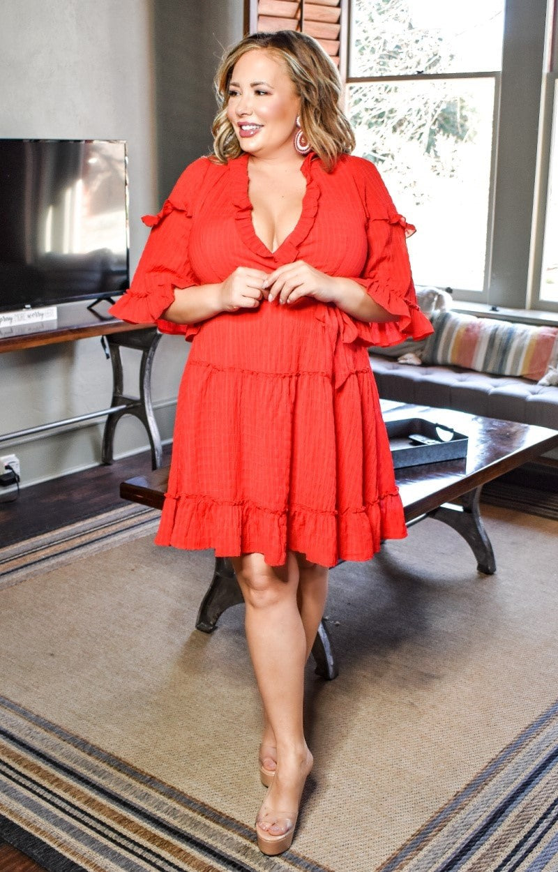 Load image into Gallery viewer, Don't Worry Sweetheart Dress - Red