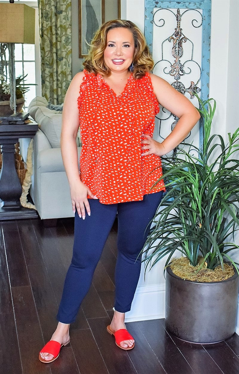 Blissful Romance Print Top - Red