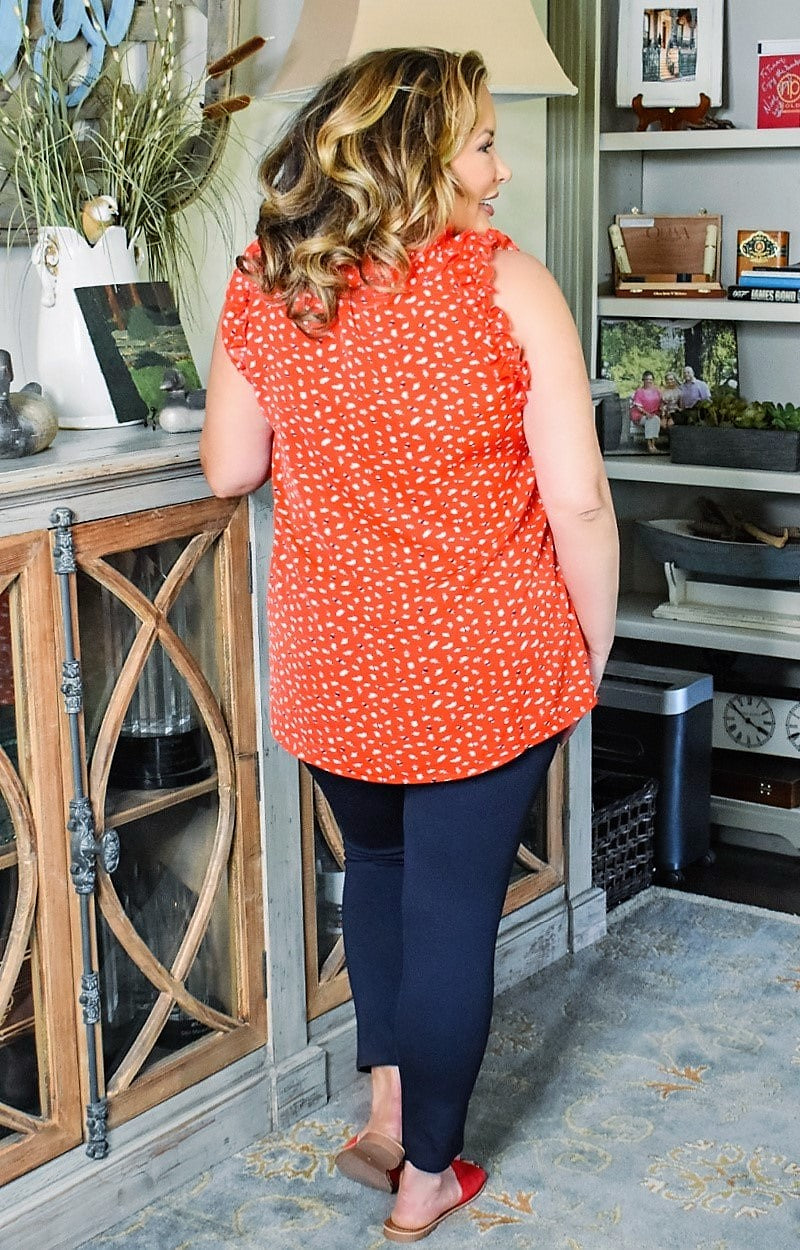 Load image into Gallery viewer, Blissful Romance Print Top - Red